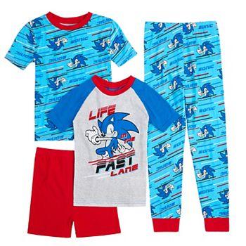 Boys 4-10 Sega Sonic the Hedgehog Tops, Shorts & Pants Pajama Set Licensed Character