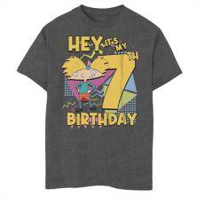 Футболка для мальчиков 8-20 Nickelodeon Hey Arnold с графическим рисунком в честь 7-го дня рождения Nickelodeon
