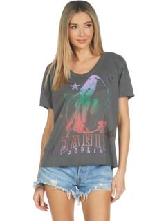 Элара Дженис Джоплин с футболкой бойфренда с V-образным вырезом и кристаллами Lauren Moshi