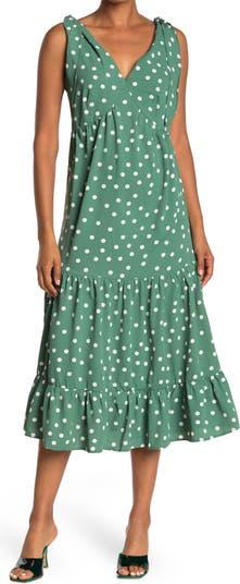 Платье с оборками и принтом Polkadot ONE ONE SIX