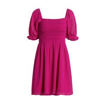 Шифоновое мини-платье со сборками WAYF