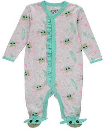 Боди для сна и игр Baby Yoda для маленьких девочек HAPPY THREADS