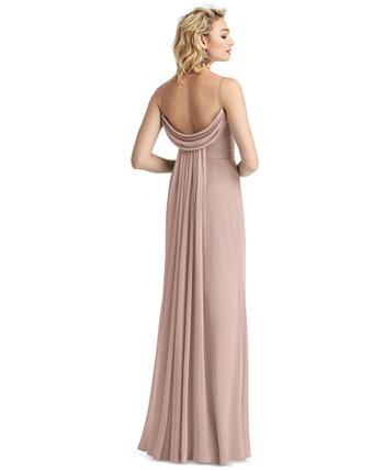 Платье без рукавов с драпировкой на спине After Six