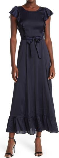 Cap Sleeve Ruffle Maxi Dress FRNCH
