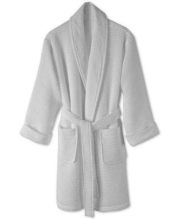 Банный халат с текстурой из хлопковых вафель, созданный для Macy's Hotel Collection