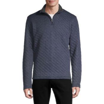 Стеганый пуловер на молнии до четверти Vintage 1946