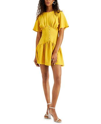 Мини-платье Corinne с зажимом в горошек LeRumi