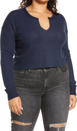 Укороченный пуловер с вафельной вязкой BP.