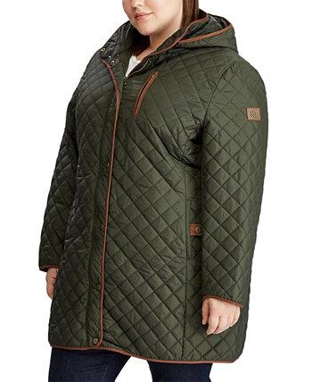 Стеганая куртка больших размеров с капюшоном, созданная для Macy's Ralph Lauren