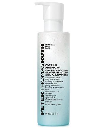Water Drench Гель для снятия макияжа с гиалуроновым облаком, 6,7 унций. Peter Thomas Roth