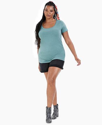 Модная футболка больших размеров с круглым вырезом Aveto