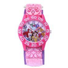 Disney Princess Belle, Ariel & Aurora Kids' Pink Time Teacher Watch Licensed Character