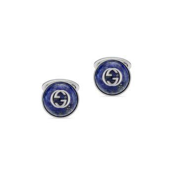 Запонки на пуговицах из стерлингового серебра с переплетенными узорами G GUCCI