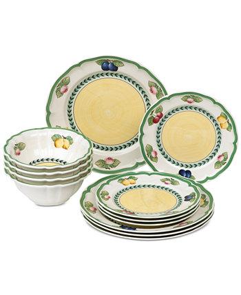 Французский сад 12-шт. Набор столовой посуды, сервиз для 4 человек, создан для Macy's Villeroy & Boch