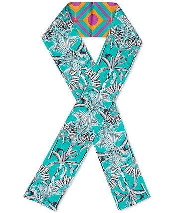 Двусторонний шелковый шарф Wild Palm Echo