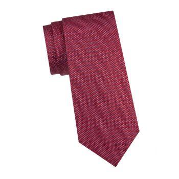 Шелковый галстук с принтом Armani Collezioni