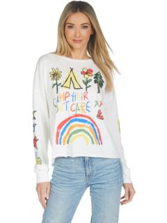 Укороченная футболка с длинными рукавами Luella Camp Hair Don't Care Lauren Moshi