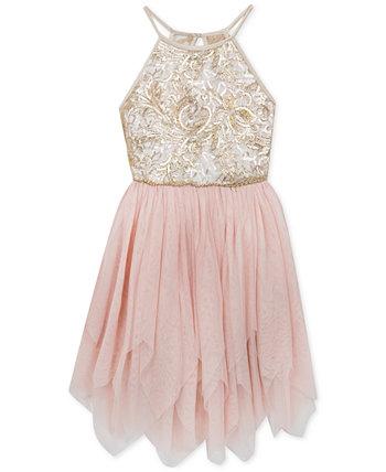 Big Girls Sequin Mesh Dress Rare Editions