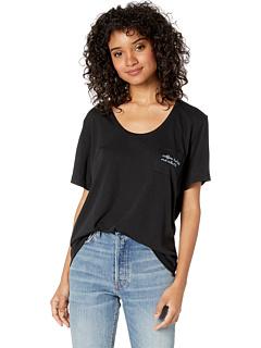 Кофейная футболка с карманами FOR BETTER NOT WORSE
