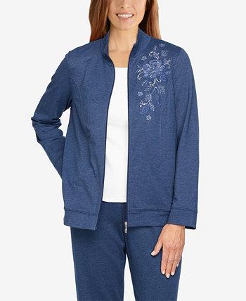 Женская куртка с вышивкой Missy Relax Enjoy Alfred Dunner