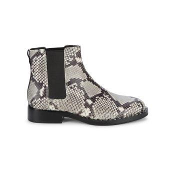 Кожаные ботинки челси со змеиным принтом ASH