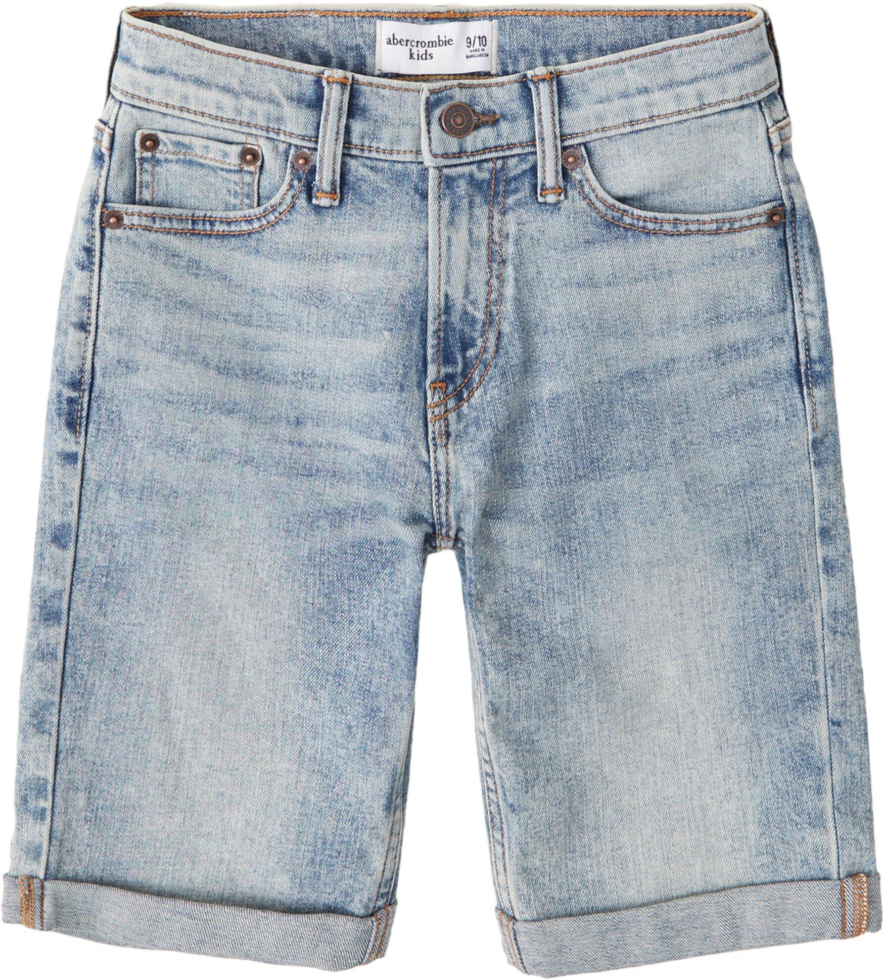 Джинсовые шорты Light Wash Destroy (для детей младшего и школьного возраста) Abercrombie kids