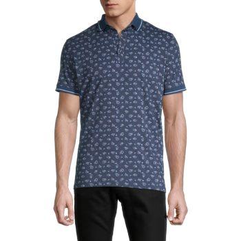 Рубашка-поло с принтом новинки Stone Rose