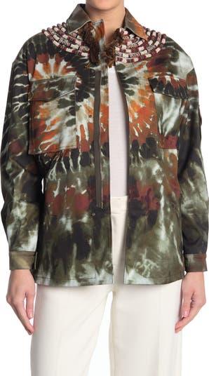 Куртка Caban с декором Tie Dye Valentino