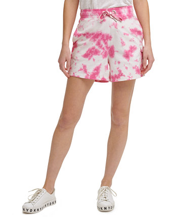 Cotton Tie-Dyed Pull-On Shorts DKNY Jeans