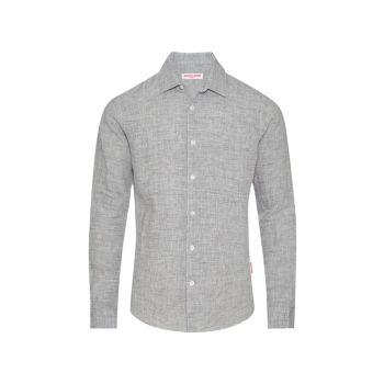 Льняная рубашка на пуговицах Giles ORLEBAR BROWN