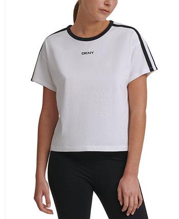 Спортивная женская укороченная футболка Ringer DKNY
