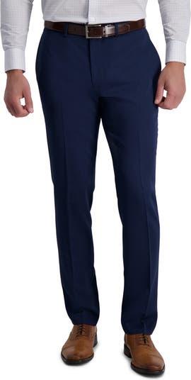 Однотонные городские брюки из эластичного хлопка приталенного кроя Louis Raphael