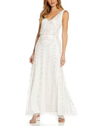 Beaded Blouson Gown Adrianna Papell