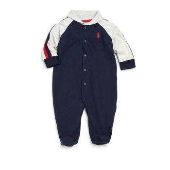 Хлопковая футболка с воротником-шалью для маленьких мальчиков Ralph Lauren