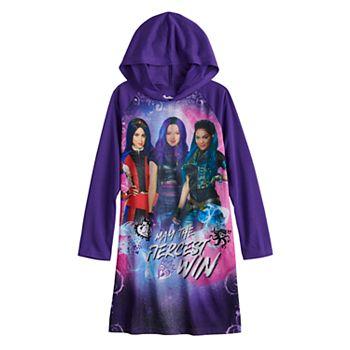 Disney's Descendants Girls 6-14 Fiercest Hooded Dorm Nightgown Disney