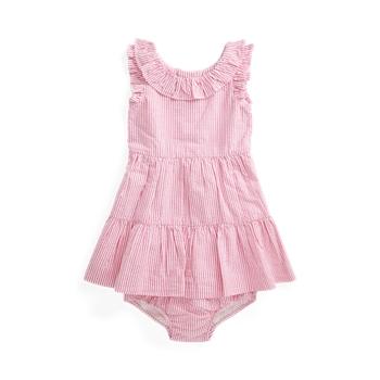 Многослойное платье из жатого хлопка и шаровары Ralph Lauren
