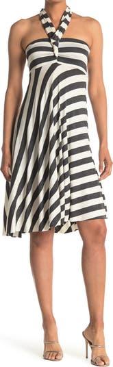 Полосатое платье-трансформер-накидка ELAN