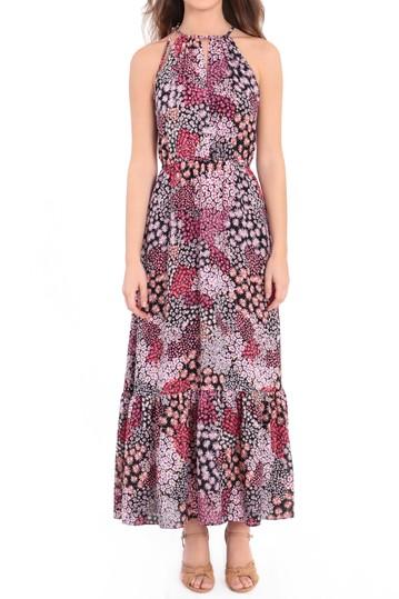 Макси-платье без рукавов с принтом на воротнике Donna Morgan