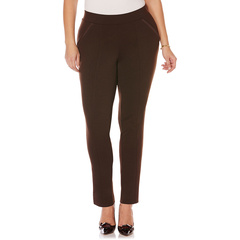 Plus-size Ponte Comfort Fit Slim Leg Pants Rafaella