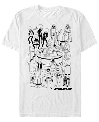 Мужская классическая футболка с короткими рукавами Cantina Cartoon Star Wars