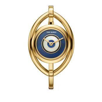 Часы с браслетом из нержавеющей стали с золотистым оттенком сглаза Tory Burch