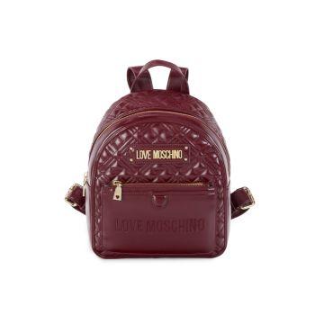 Рюкзак-купол с заклепками LOVE Moschino