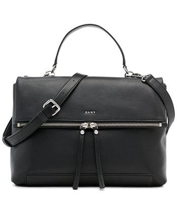 Кожаная сумка-мессенджер Jaye с ручкой сверху DKNY