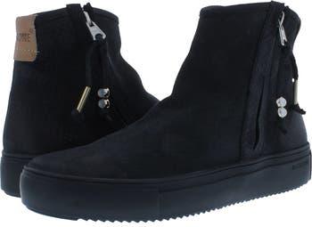 Side Zip High-Top Sneaker Blackstone