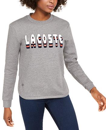 Флисовая толстовка с логотипом Lacoste