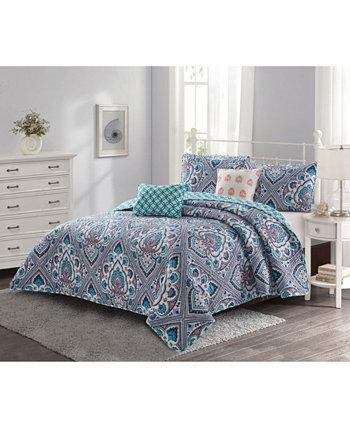 Комплект одеял Merriam из 4 предметов / Coral Twin Harper Lane