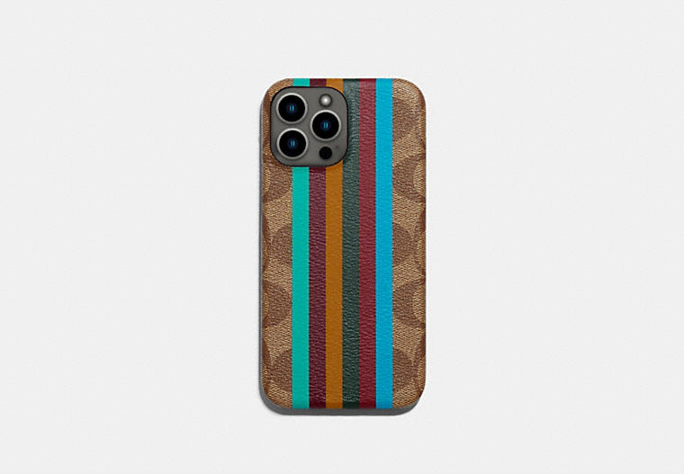 Iphone 13 Pro Max Case In Signature Canvas COACH
