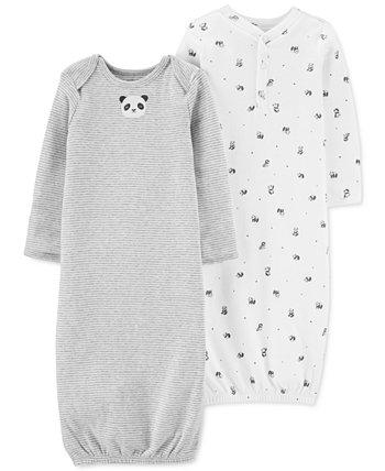 Baby 2-Pk. Cotton Panda Sleeper Gowns Carters