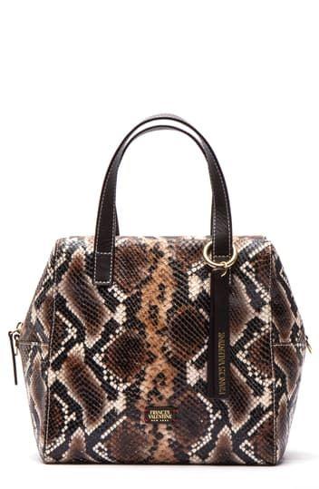 Кожаная сумка-сэтчел Sabrina со змеиным принтом Frances Valentine