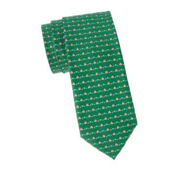 Hedgehog Silk Tie Salvatore Ferragamo